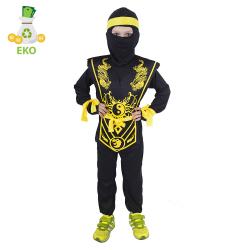 Obrázek Dětský kostým NINJA žlutý (M) EKO