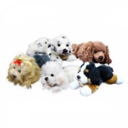 Obrázek plyšový pes ležící, 5 druhů, 17 cm