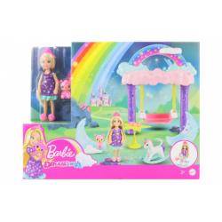 Obrázek Barbie Chelsea s houpacím koníkem herní set GTF50