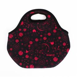 Obrázek Svačinová taška s růžovými květy