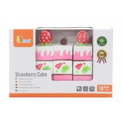 Obrázek Dřevěné krájení -  jahodový dort