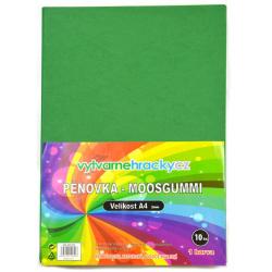 Obrázek Pěnovka-tmavě zelená, 10 ks, A4 - cca 2 mm