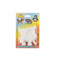 Obrázek Podložka na zažehlovací korálky slon,tučňák,pejsek plast 3ks na kartě 12x18x3cm