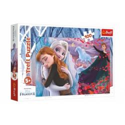Obrázek Puzzle Navždy spolu Ledové království II/Frozen II 100 dílků 41x27,5cm v krabici 29x19x4cm