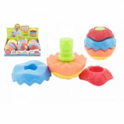 Obrázek Skládačka míček plast 9cm  v síťce 6ks v boxu 12m+
