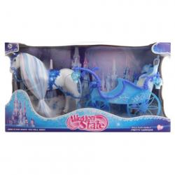 Obrázek Kůň s modrým kočárem