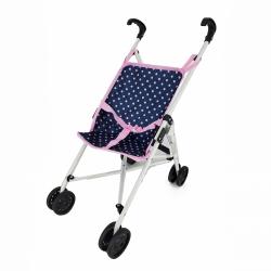 Obrázek Golfový kočárek pro panenky modro/růžový s puntíky