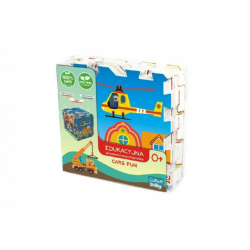 Obrázek Pěnové puzzle Dopravní Prostředky 32x32x1cm 8ks v sáčku