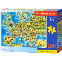 Obrázek Puzzle Castorland 100 dílků premium - Mapa Evropy