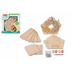 Obrázek Kreativní sada Vyrob si ptačí budku v krabici 24x26x4,5cm