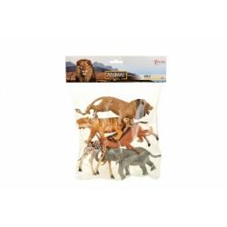 Obrázek Zvířata safari plast 11-15cm 5ks v sáčku