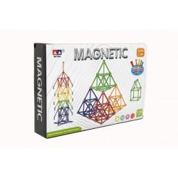 Obrázek Magnetická stavebnice 120 ks plast/kov v krabici 28x19x5cm