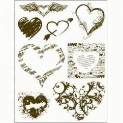 Obrázek Gelová razítka - Srdce a srdíčka