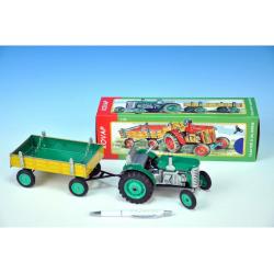 Obrázek Traktor Zetor s valníkem zelený na klíček kov 28cm Kovap