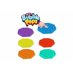 Obrázek Bubble pops - Praskající bubliny silikon antistresová spol. hra  6 barev 12,5x12,5cm v sáčku
