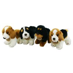 Obrázek plyšový pes stojící, 4 druhy, 16 cm