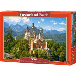 Obrázek Puzzle Castorland 500 dílků - Výhled na Neuschwanstein, Německo