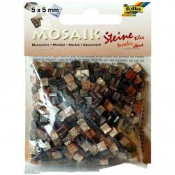 Obrázek Mozaika živicová 5x5mm- hnedý mramor