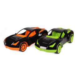 Obrázek Auto sportovní plast 38x17cm na volný chod 2 barvy v síťce
