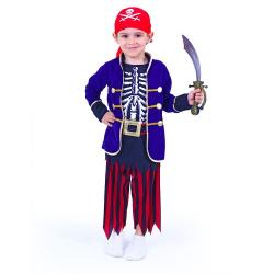 Obrázek Dětský kostým pirát modrý s šátkem (S)