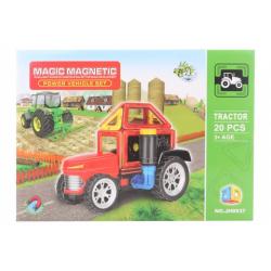 Obrázek Magnetická stavebnice 20 ks traktor