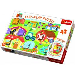 Obrázek Puzzle 36 dílků Flip-flap Na farmě