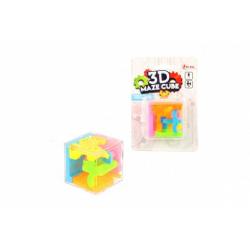 Obrázek Bludiště/hlavolam 3D kostka 4,5x4,5cm na kartě