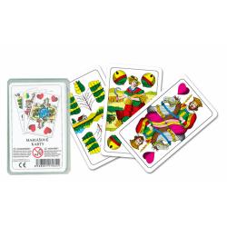 Obrázek karty mariášové,dvouhlavé,plast.krabička