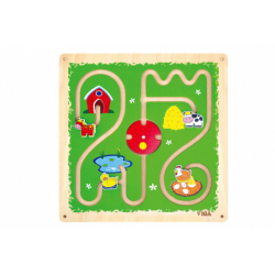 Obrázek Dřevěný nástěnný labyrint - zvířátka