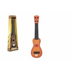 Obrázek Ukulele/kytara plast 39cm s trsátkem 2 barvy v krabičce 12x40x5cm