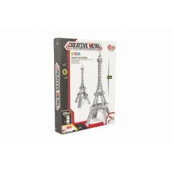 Obrázek Stavebnice kovová Eiffelova věž 225 dílků v krabici 24x31x5cm
