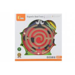 Obrázek Dřevěné magnetické bludiště beruška