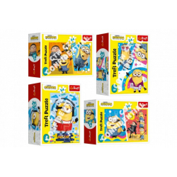 Obrázek Minipuzzle 54 dílků Mimoni/Padouch přichází 4 druhy v krabičce 9x6,5x4cm 40ks v boxu
