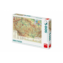 Obrázek Puzzle Mapa České Republiky 47x33cm 500dílků