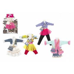 Obrázek Šaty/Oblečky krátké na panenky mix druhů v sáčku 22x30cm