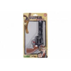 Obrázek Pistole na kapsle 8 ran plast 23cm na kartě 17x31x3cm