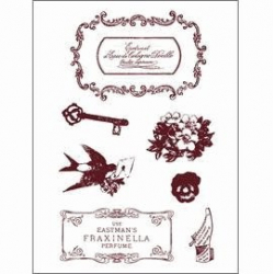 Obrázek Gelová razítka - Štítky, klíč, květiny, vlaštovka