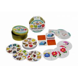 Obrázek Dětské hrátky pro nejmenší 3v1 společenská hra v plechové krabičce