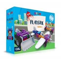 Obrázek ALBI Kvído - Stavebnice Playstix - vozidla 146 dílků