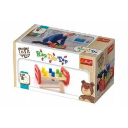 Obrázek Zatĺkačka s kladivkom drevená Wooden Toys v krabici 22,5x12,5x10,5cm 12m +