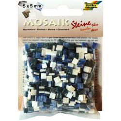 Obrázek Mozaika živicová 5x5mm- modrý mramor