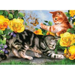 Obrázek Malování podle čísel- Koťata na zahradě