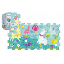 Obrázek Pěnové puzzle 8ks Hra s lamou 32x32cm v sáčku 24m+