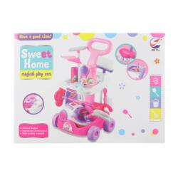 Obrázek Úklidový vozík růžový