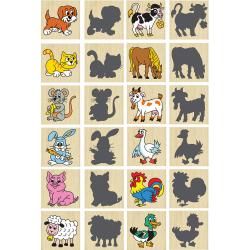 Obrázek Pexeso zvieratká a ich tiene