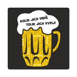 Obrázek Pánské humorné tričko - Počet piv, vel. XXL