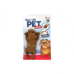Obrázek Pes antistresový guma 14cm 2 barvy v sáčku