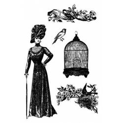 Obrázek Razítka na pěnovce - Klec, ptáček