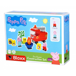 Obrázek PlayBig BLOXX Peppa Pig Hasičské auto s příslušenstvím