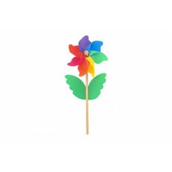 Obrázek Větrník barevný 38cm dřevo/plast průměr 15cm
